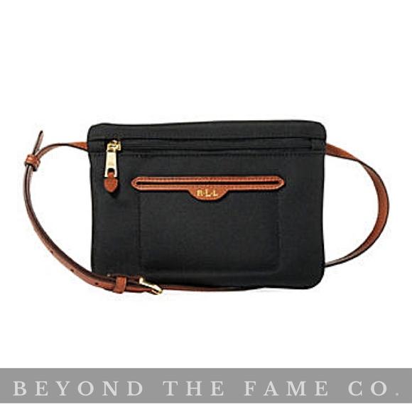 fe69de83e64d RALPH LAUREN Bainbridg Waist Belt Bag Black LARGE